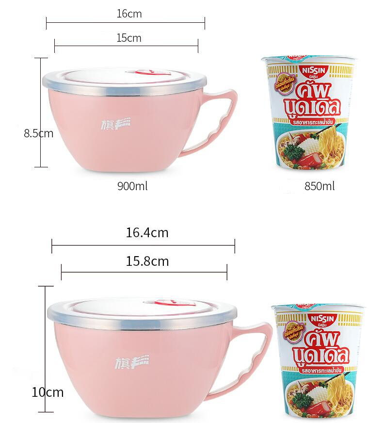 Dimensions of Lunch Bowl with Hamdle