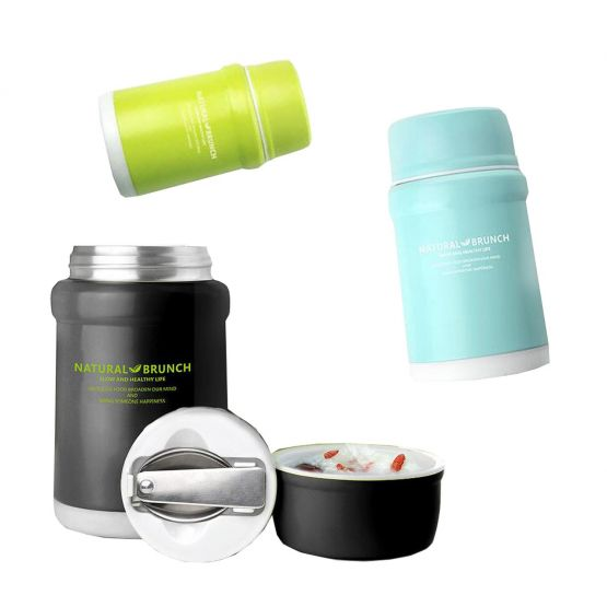 Different colors insulated food thermos