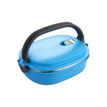 Blue Steel LunchBox With Handle