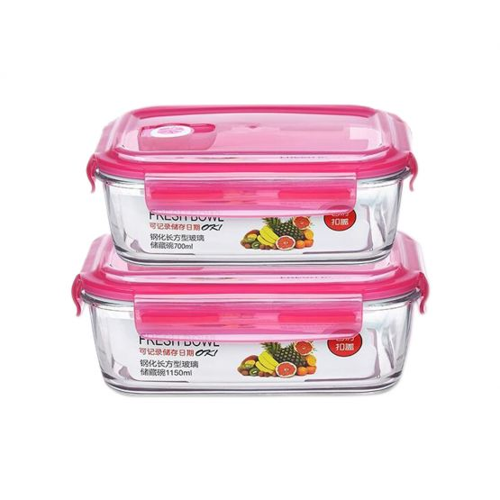 Glass Pink LeakProof Lunch Box