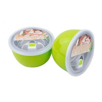 2 Green Soup Steel Bowls
