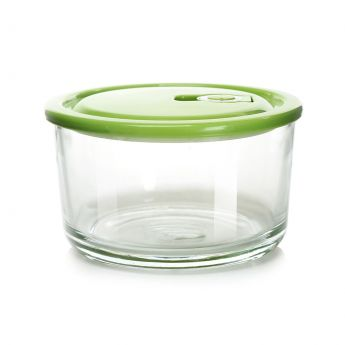 Green Round Glass Food Container