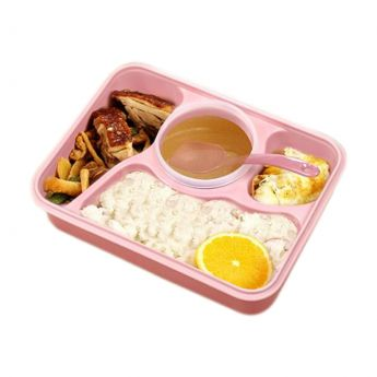 Japanese Box With Food Pink Color