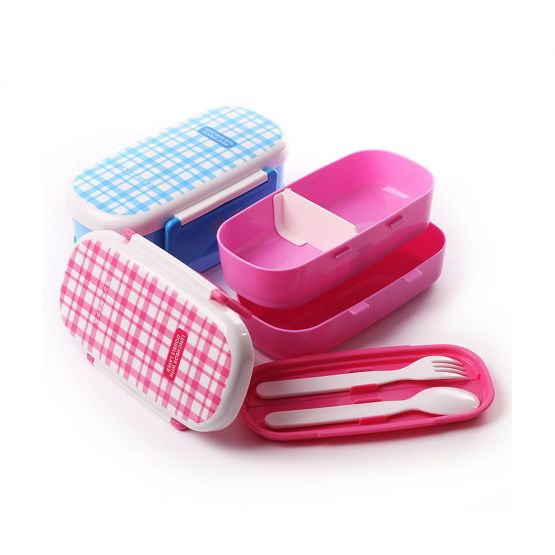 Plaid Pattern Lunch Box