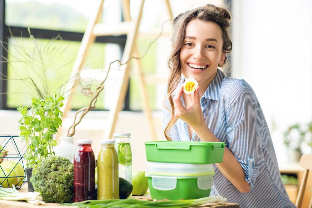 Women Eating Lunch Box