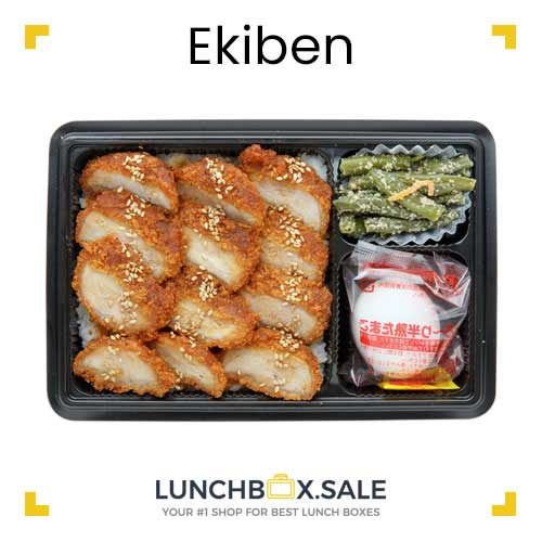 Ekiben with fried chicken