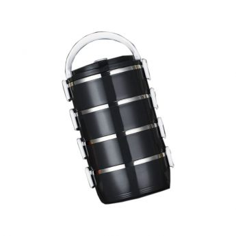 Tiffin Black Lunch Box