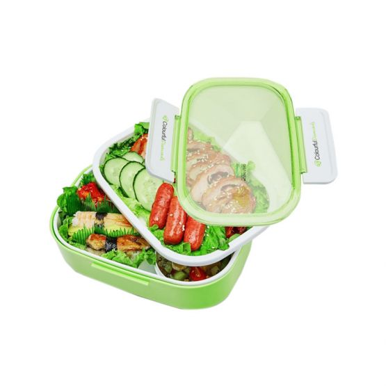 Lunch Box with Food in Diamond