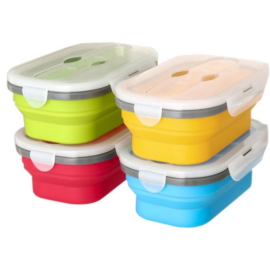 Multicolor Meal Storage Foldable