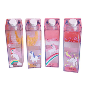 Milk Water Bottle with Unicorn