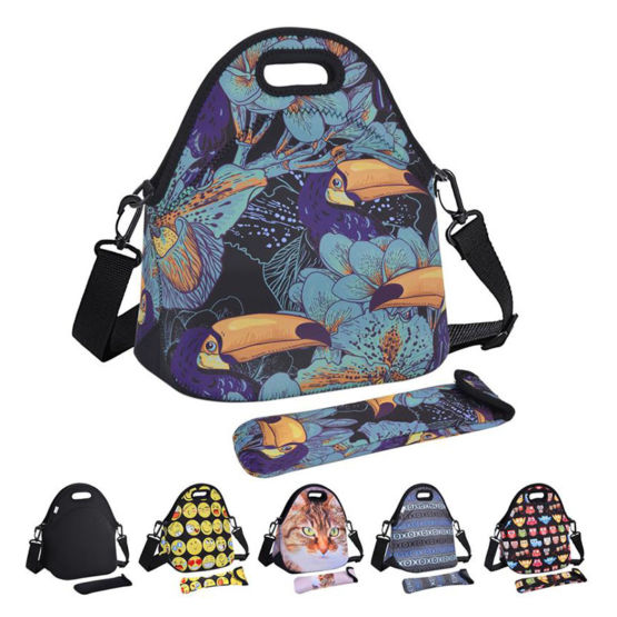 Neoprene Lunch Bag with Strap