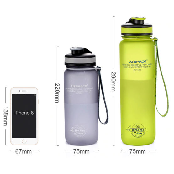 Dimensions of UZSPACE Sport Bottle